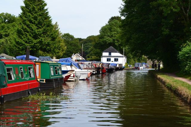 Monmouthshire and Brecon Canal at Govilon Wharf