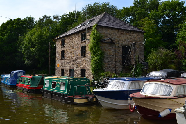 Former canal warehouse at Govilon Wharf