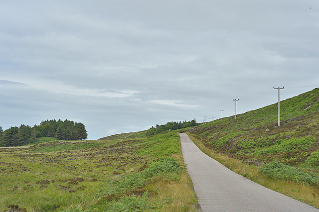 The Applecross coast road approaching Salacher