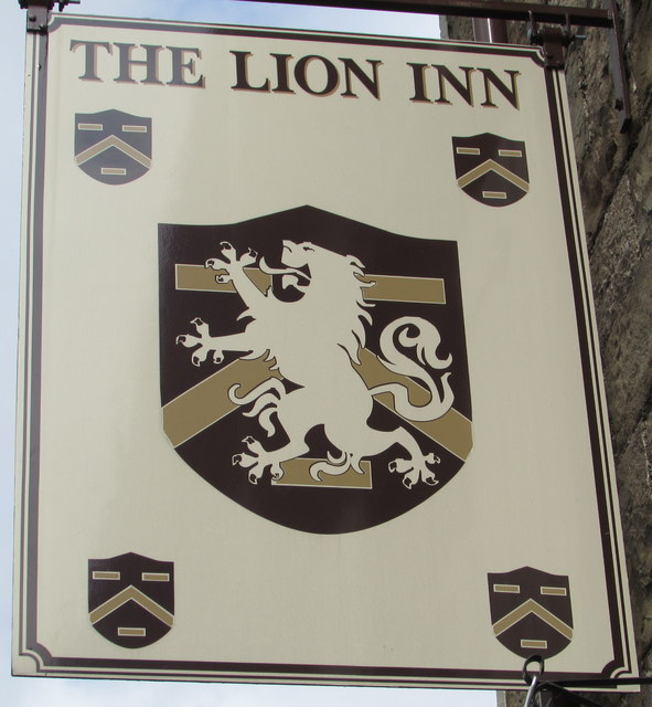 Lion Inn name sign, Govilon