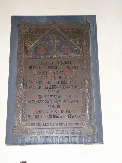 St Nicholas, Brockley: memorial (d)