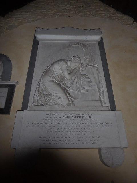 St Nicholas, Brockley: memorial (f)