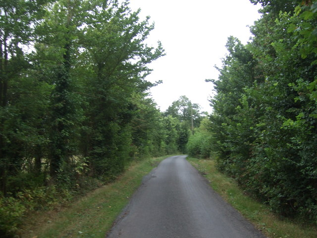Minor road towards Wychbold