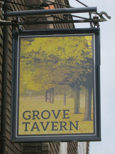 Grove Tavern sign