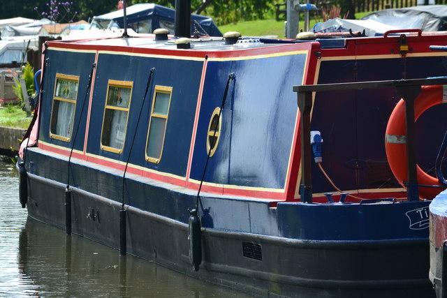 Narrowboat detail at Goytre