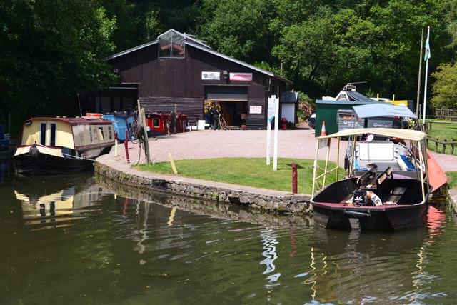 Red Line boatyard at Goytre Wharf