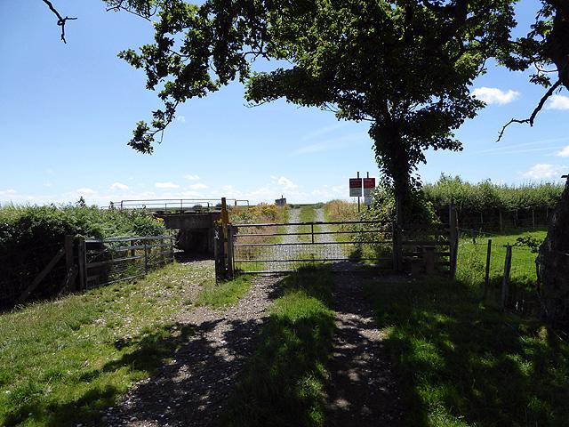 Level crossing across the Cambrian Coast railway line