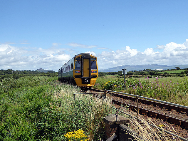 A Cambrian Coast train heading for Criccieth and beyond