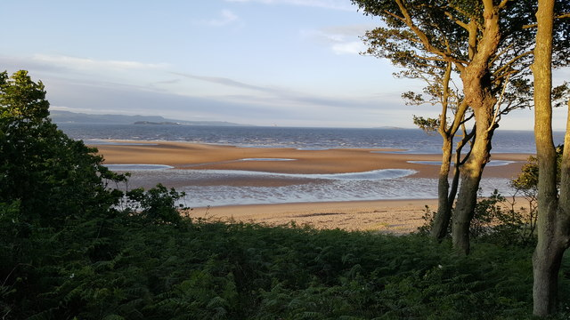 Sands at low tide near Hound Point on the Firth of Forth