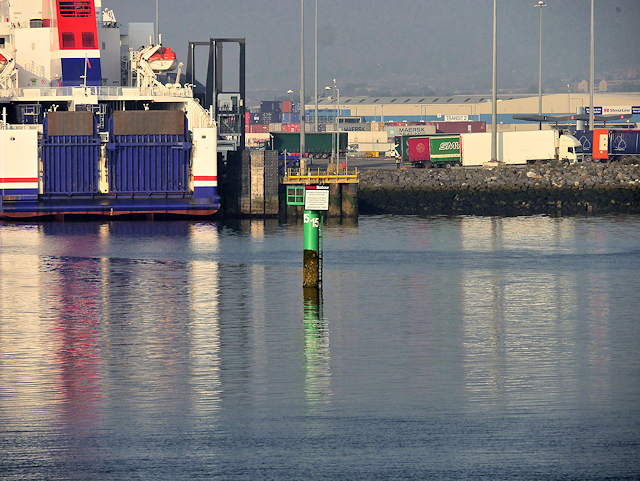 Belfast Docks, Marker Post No 15 and Victoria Terminal Number 4