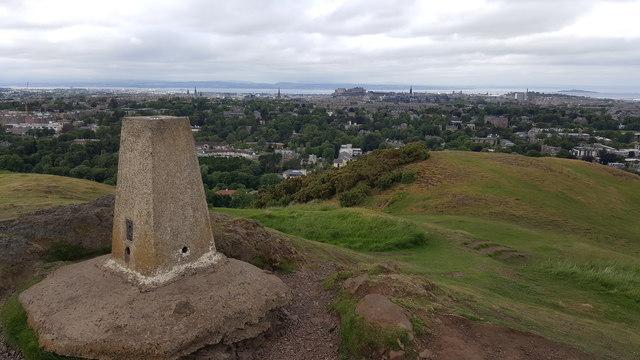 Blackford Hill triangulation pillar