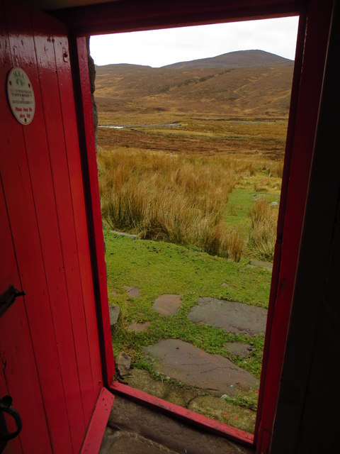 View from Strathan bothy door