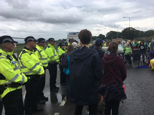 Police and protectors