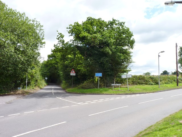 Junction of Blackwell Road and Alcester Road, Burcot
