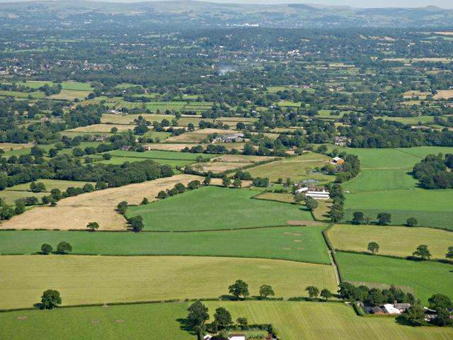 Farmland near Kimbles from the air