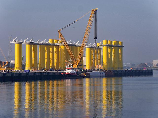 Belfast Harbour D1 Quay, Wind Turbine Bases