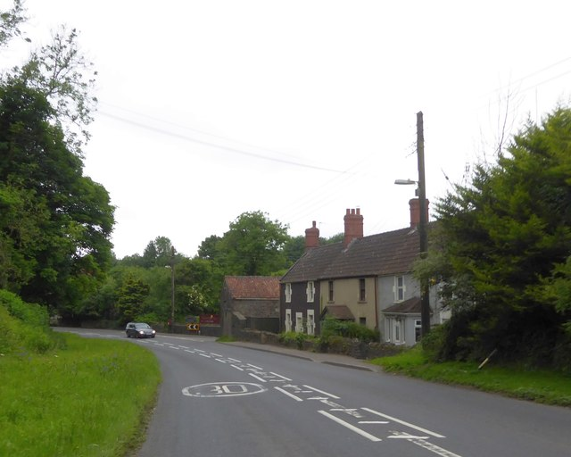Terrace of houses at the north end of Gurney Slade