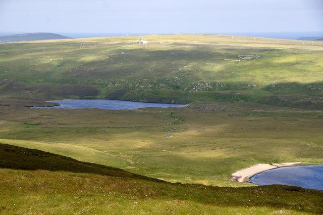Black Loch from Valla Field