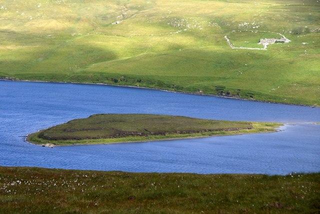 Little Holm in Loch of Watlee, from Valla Field