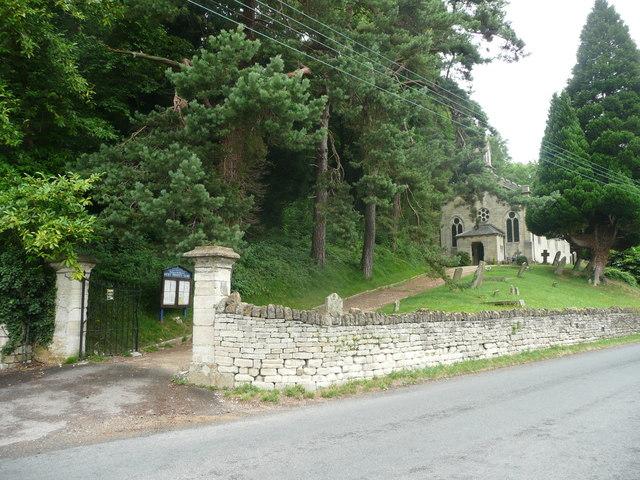 The gateway to Holy Trinity Church, Slad