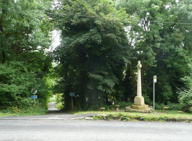 War memorial and lane, Slad