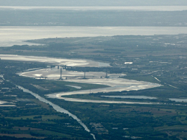 The Mersey estuary from the air