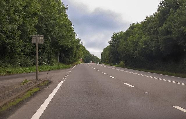 A39 near Abbotsham