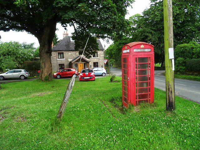 Rural telephone box on the green