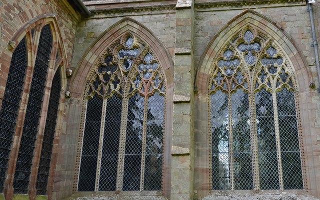 Ledbury, St. Michael and All Angels Churchyard: c13th Decorated east window
