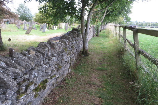 Footpath by the churchyard