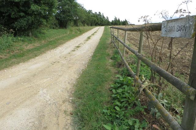 Bridleway to Falcutt Barn