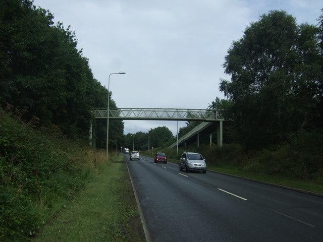 Foot bridge over Stoke Road (A38), Bromsgrove