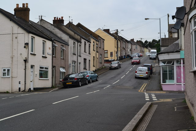 Kemys Street, looking up from the canal bridge