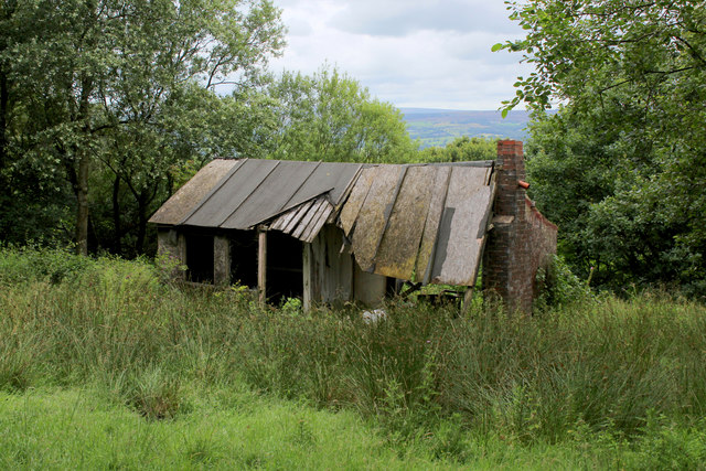 Ruined Chalet on Hagg's Hall Field