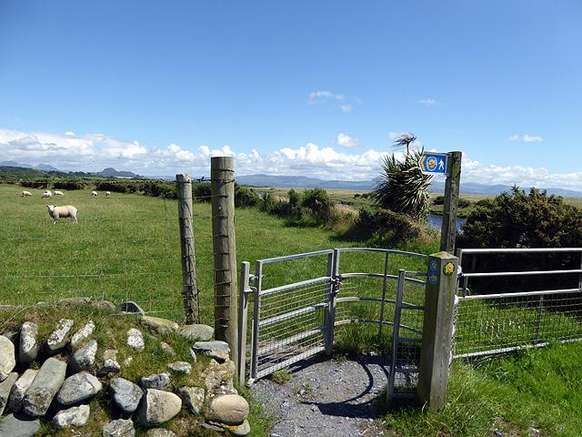 Pinch gate on the Wales Coast Path