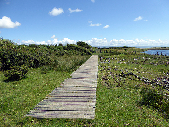 A second stretch of boardwalk on the Wales Coast Path