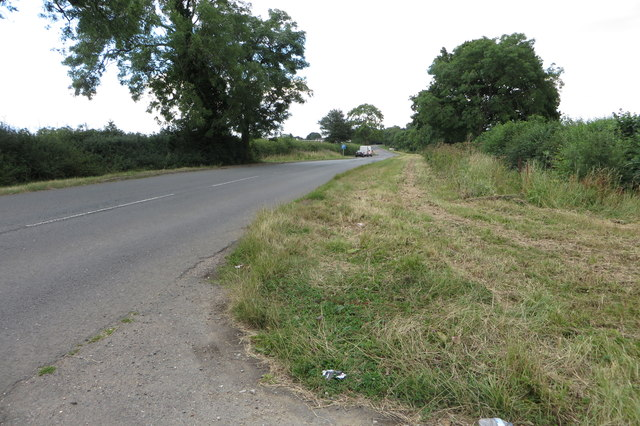The old A43 towards Syresham
