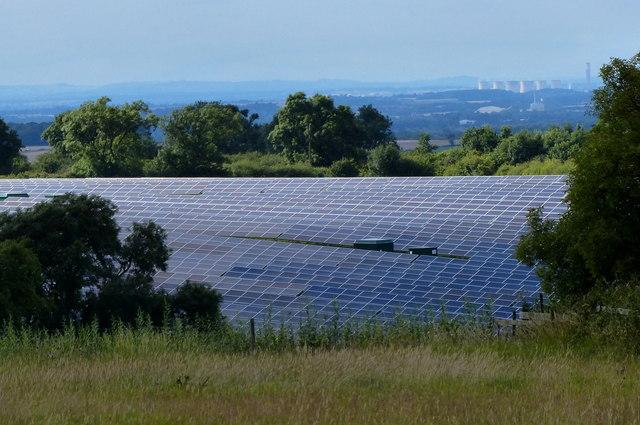 Solar farm near Old Ingarsby