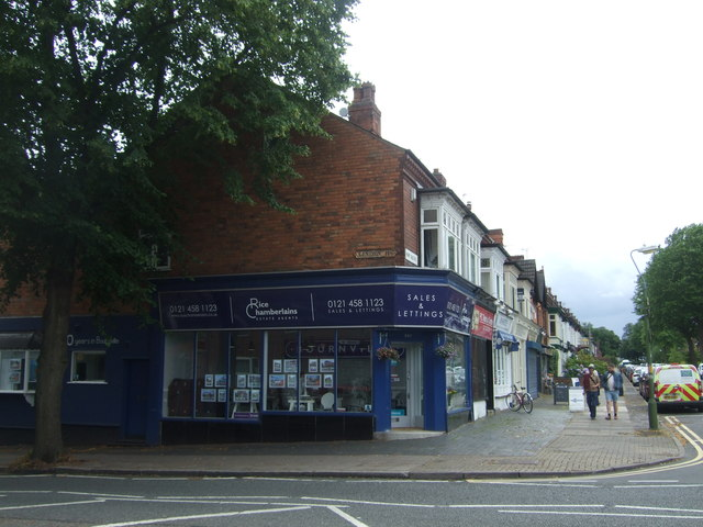 Estate agents on Mary Vale Road, Bournville