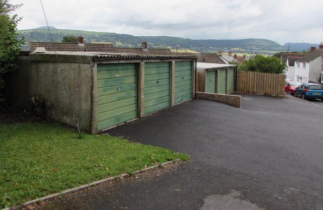 Six lockup garages, Station Road, Govilon