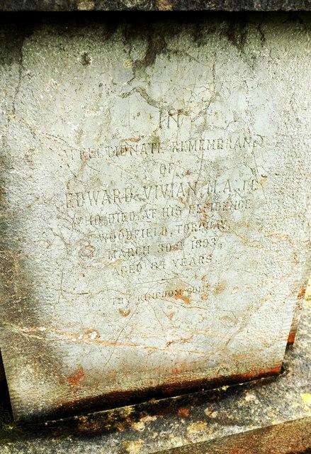 Edward Vivian's tomb, Torquay Cemetery