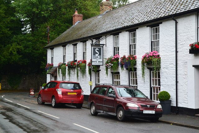 The White Swan public house at Llanfrynach