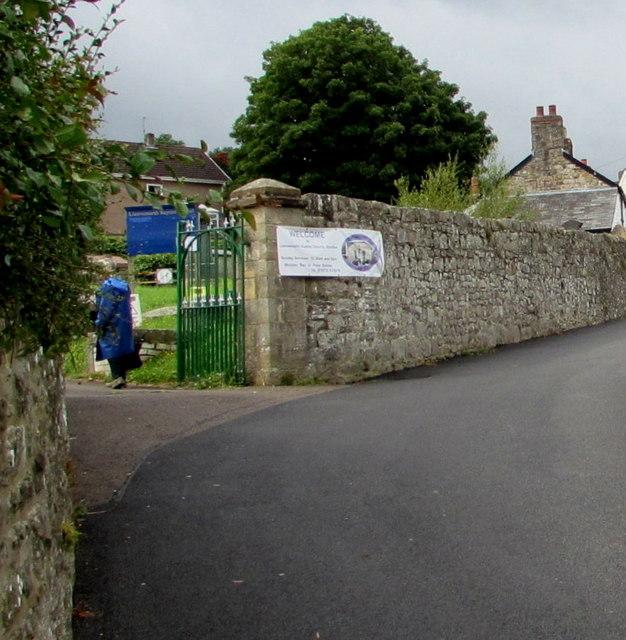 Station Road entrance to Llanwenarth Baptist Chapel, Govilon