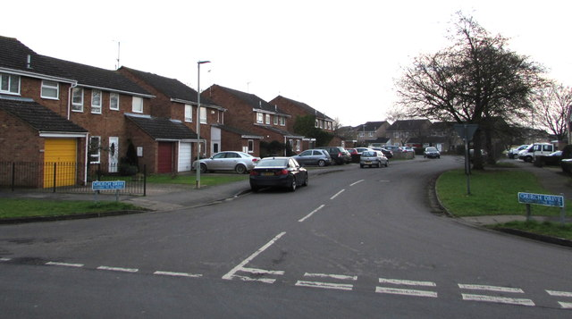 Church Drive from School Lane, Quedgeley
