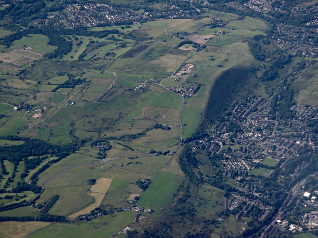 Luzley and Mossley from the air