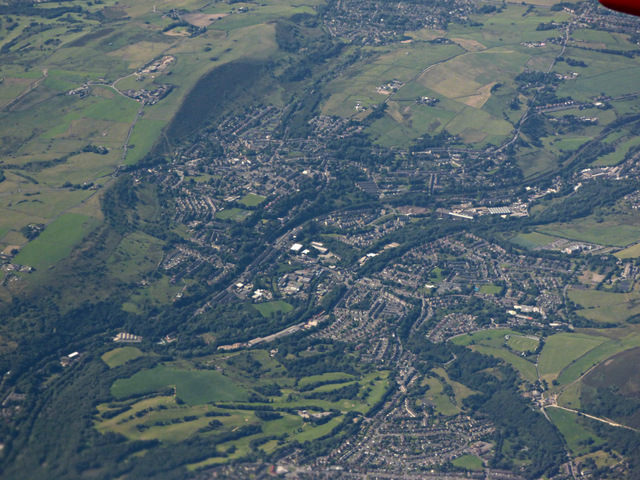 Mossley from the air