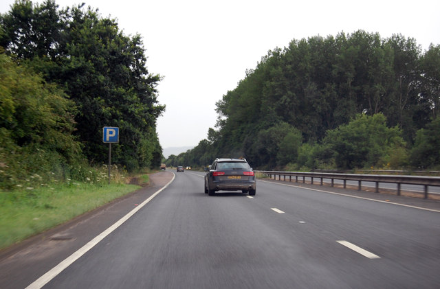 A361 approaching parking area