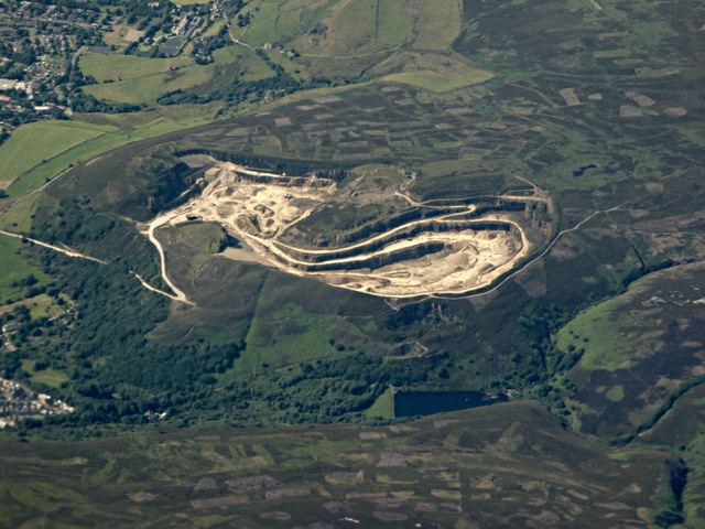 Buckton Vale Quarry from the air