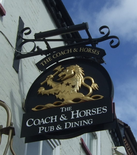 Sign for the Coach & Horses, Worcester