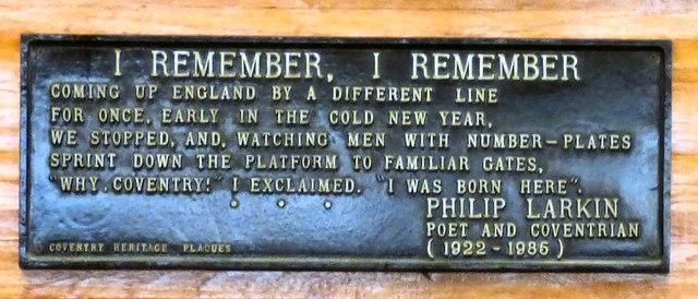 Philip Larkin at Coventry Station